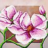 """Схема для вышивки бисером """"Орхидея"""", 17х17 см"""