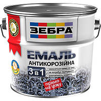 Эмаль антикорозионная «Зебра 3 в 1» 2,0 литра / № 55, ярко-желтый