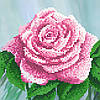 "Схема для вышивки бисером ""Роза"", 17х17 см"