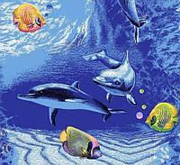 Детский ковролин Морское дно (рыбки)