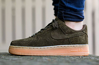 Кроссовки Nike Air Force 1 low (dark green/brown) - 45Z мужские