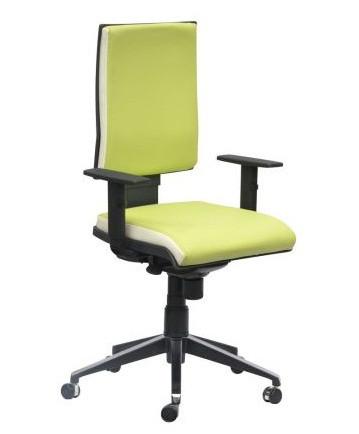 Кресло Спейс Алюм HB Неаполь-34 салатовый/боковины Неаполь-50 белый.