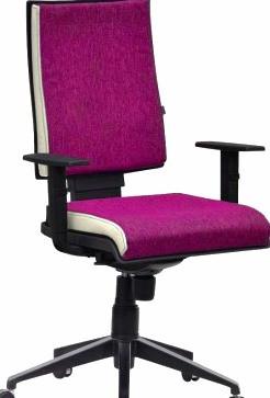 """Кресло """"Спейс"""" Алюм HB Papermoon ― 014 фиалковый / боковины к.з., Неаполь ― 50 белый."""