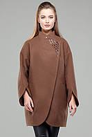 Женское однотонное пальто модного свободного фасона