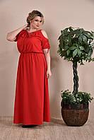 Красное платье 770259-1, размеры от 42 до 74