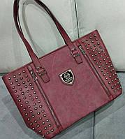 Большая женская сумка темно-красного цвета Philipp Ple... Материал эко кожа и эко нубук.