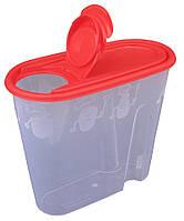 """Ёмкость для сыпучих продуктов пластиковая 1,3 литра """"ПолимерАгро""""  + Видео"""