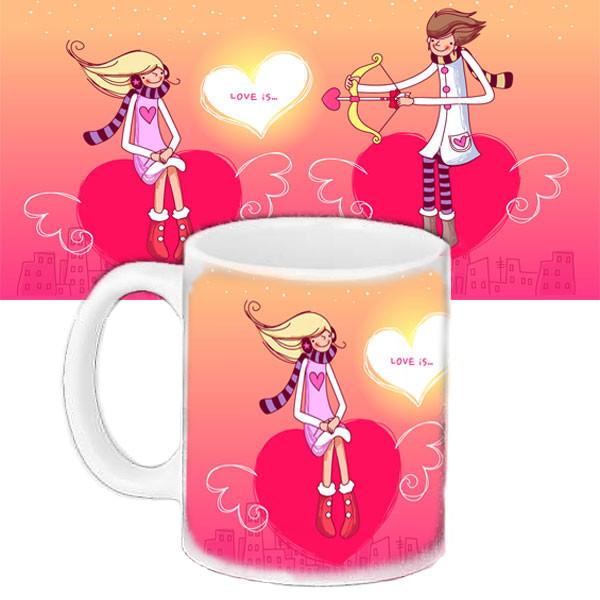 Кружка з принтом День закоханих