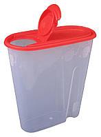 """Ёмкость для сыпучих продуктов пластиковая 1,8 литра """"ПолимерАгро"""" + Видео"""