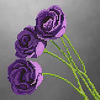 """Схема для вышивки бисером """"Розы"""", 17х17 см"""