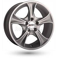 Литые диски Disla Luxury R14 W6 PCD4x100 ET37 DIA67.1 (silver)
