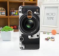 Силиконовый чехол бампер для Meizu pro 6 с рисунком объектив фотоаппарата