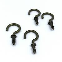 Крючок для ключей. Цвет старая латунь.  29х13мм