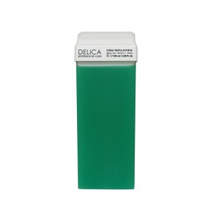 Воск в кассетах зеленый Алое 100 г, Delica