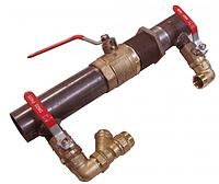 Байпас стальной для отопления  короткий ду 40 с краном
