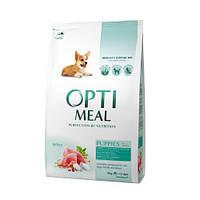 Сухой корм для щенков всех пород OPTIMEAL - индейка, 4 кг