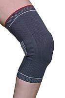 Бандаж для коленного сустава 3D-вязка (с силиконовым кольцом и спиральными металл/ ребрами жесткоcти) ARK9103