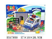 Детский конструктор jdlt 5131 Полицейский участок 28 деталей на батарейках