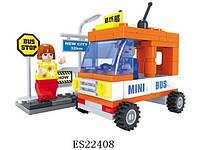Детский конструктор ausini Город Микроавтобус 25302 пластик 93 детали