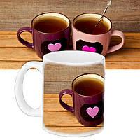 Кружка с принтом Чай для влюбленных