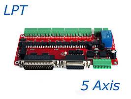 Интерфейсная плата с полной опторазвязкой порта LPT на 5 осей ЧПУ, фото 2