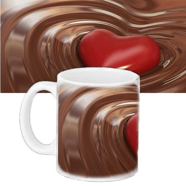 Кружка подарок Сердце в шоколаде