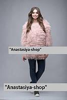 """Розовый полушубок из меха ламы """"Jenna"""", под заказ"""
