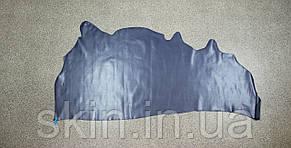 Натуральная кожа для кожгалантереи и обуви синего цвета, толщина 1.0 мм, арт. СК 2119, фото 2