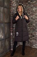 Модная женская зимняя куртка свободного покроя, с капюшоном