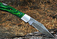 Нож дамасский Клинок ручная работа K1 113 Зеленый