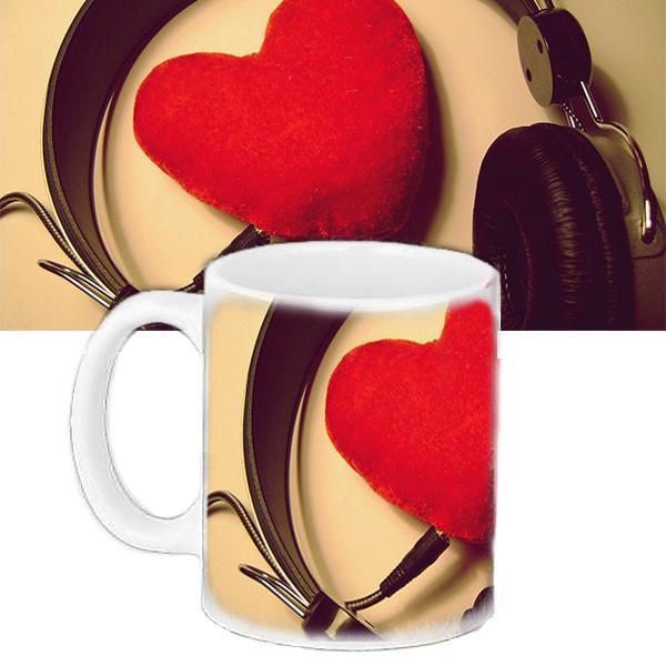 Кружка з принтом червоне Серце