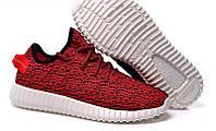 Мужские Кроссовки Adidas Yeezy 350 Boost Low красные , фото 1