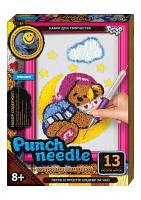 Набор для творчества Ковровая вышивка «Punch Needle» Мишка на луне