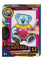 Набор для творчества Ковровая вышивка «Punch Needle» Медвежонок Тедди
