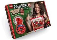 """Набор для творчества """"My Fashion Bag"""" вышивка лентами и бисером с цветами"""