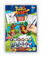 "Набор для творчества ""Раскраска по номерам Painter kids"" Медведь"