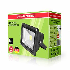 EUROELECTRIC LED Прожектор COB 20W 6500K classic, фото 2