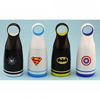 Термос супергерой с круглой ручкой, 4 вида