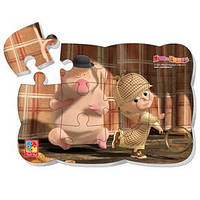 """Игрушечных набор Vladi Toys Пазлы на магнитах """"Маша и Медведь"""" 163 * 233 * 3мм 12 элементов"""