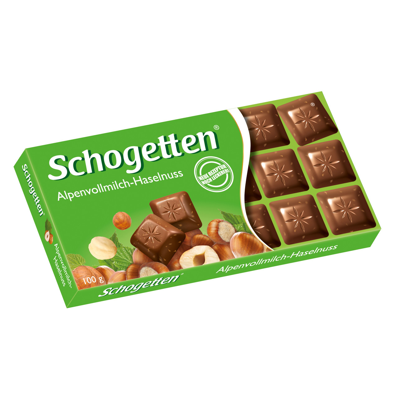 Шоколад Schogetten Alpine Milk Chocollate with Hazelnuts 100 гр.