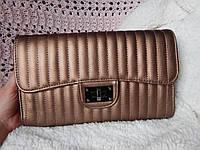 Клатч-конверт стеганный в стиле Chanel медной окраски