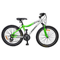 """Детский спортивный велосипед PROFI 24"""" (XM241A) LIME-GREY"""