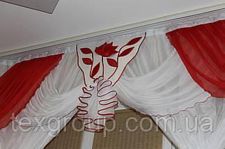 Занавеска шифоновая в спальню, детскую,кухню с декором №294 3м, фото 2