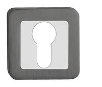 Накладка под цилиндр (ключ) Metal-bud хром-графит