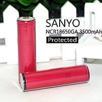 Li-ion аккумулятор защищенный Sanyo NCR18650GA 3500 mА