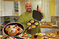 Двухсторонняя сковорода 3/1-блинница,оладушница,омлетница(ВИДЕО), фото 1