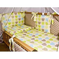 Комплект детской постели с бортиками-подушками (7,8 ед)