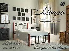 """Металлическая кровать """"Монро на деревянных ногах"""" мини"""