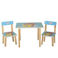 Деревянный столик со стульчиками Vivast (501-8) ГОЛУБОЙ