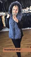 """Высококачественная куртка-трансформер из мехом чернобурки """"Megan"""", пошив"""